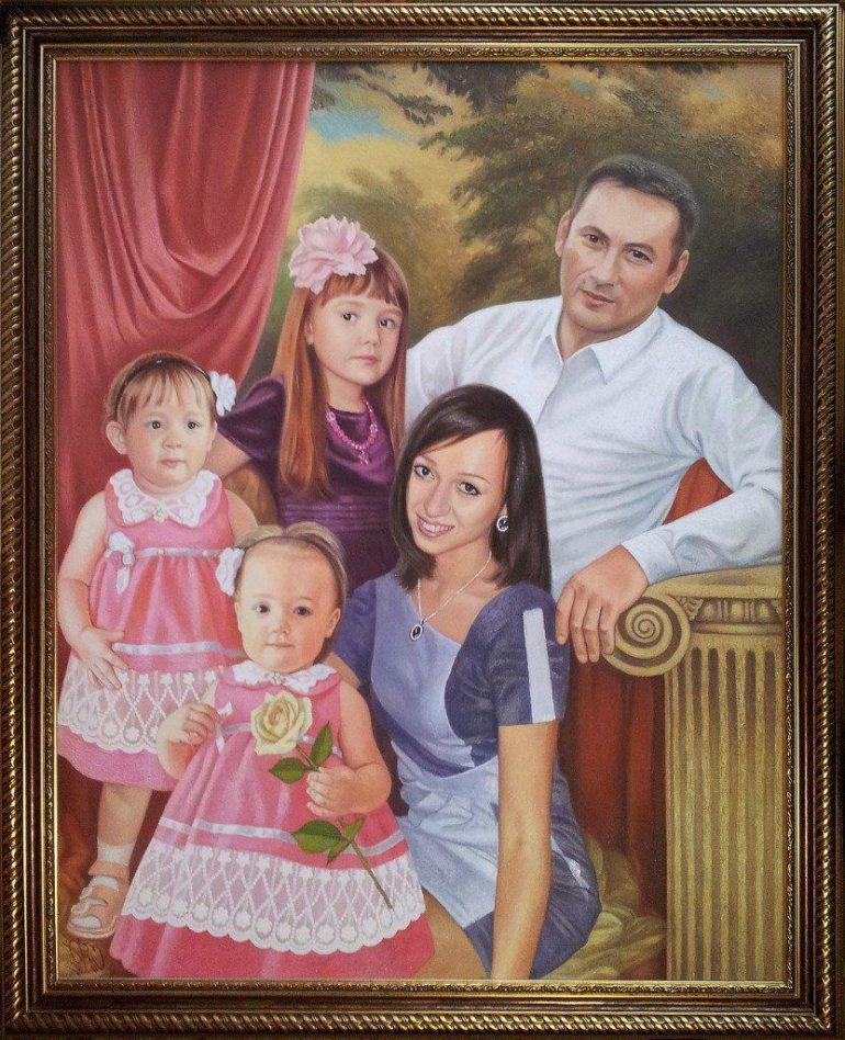 Семейный портрет маслом в Днепропетровске — правильная традиция…