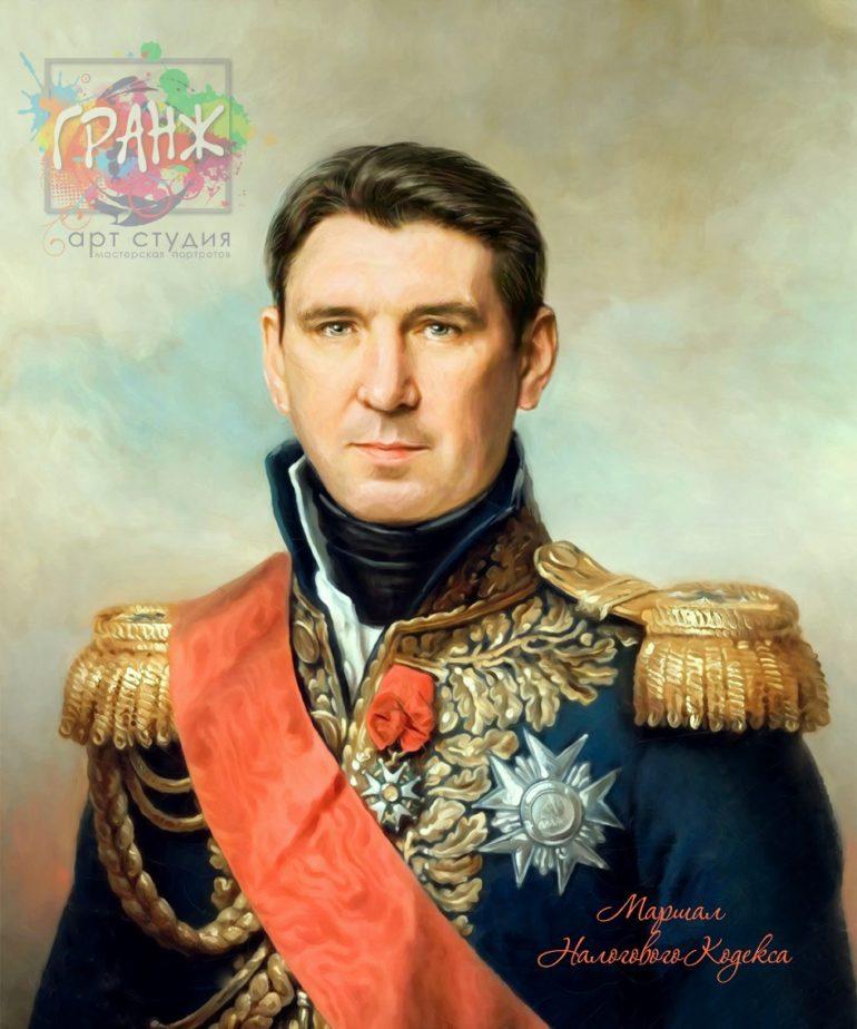 Портрет по фото на холсте в подарок мужчине на 23 февраля Днепропетровск