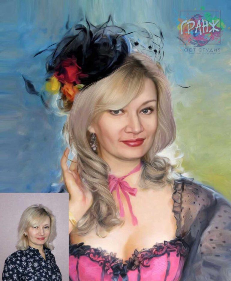 Заказать арт портрет по фото на холсте в Днепропетровске