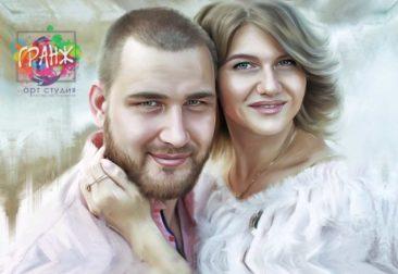 Где заказать портрет по фотографии на холсте в Днепропетровске?