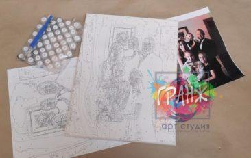 Картина по номерам по фото, портреты на холсте и дереве в Днепропетровске